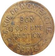 Bon pour une Audition - Montenotte Palace - Paris [75] – reverse