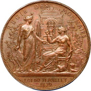 Token - Centenary of the French Revolution – obverse