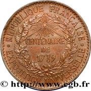 Token - Centenary of the French Revolution – reverse