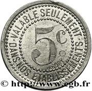 5 centimes - Compagnie fermière de l'établissement Thermal - Vichy [03] – reverse