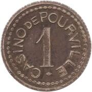 1 Franc - Casino de Pourville (76) – reverse