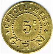 5 Centimes - Cercle-Mess G.R.M. – obverse