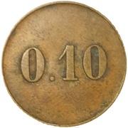 10 centimes - Société coopérative de consommation - Couëron [44] – reverse