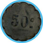 50 centimes - Sté Coopérative La Ruche - Digoin – reverse