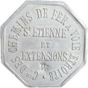 10 Centimes - COMPAGNIE DES CHEMINS DE FER A VOIE ETROITE - St Etienne [42] – obverse