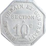 10 Centimes - COMPAGNIE DES CHEMINS DE FER A VOIE ETROITE - St Etienne [42] – reverse