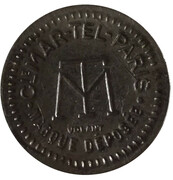 75 Centimes à consommer (MAR-TEL) – reverse