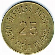 25 cent - Officers Mess Orly Field (94) – obverse