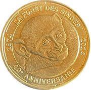 Jeton touristique - Monnaie de Paris -  La forêt des singes – obverse