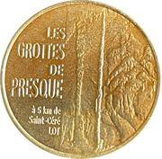 Jeton touristique - Monnaie de Paris -  Les grottes de Presque – obverse