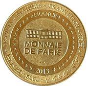 Jeton touristique - Monnaie de Paris -  Cahors - Le pont Valentré – reverse