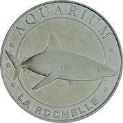 Jeton touristique - Monnaie de Paris - La Rochelle - L'aquarium( Requin) – obverse