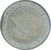 Jeton touristique - Monnaie de Paris - La Rochelle - L'aquarium( Requin) – reverse