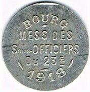 10 centimes Mess des sous-officiers du 23è - Bourg-en-Bresse (01) – obverse