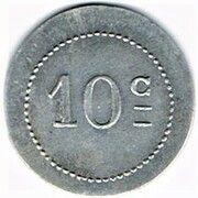 10 centimes Mess des sous-officiers du 23è - Bourg-en-Bresse (01) – reverse
