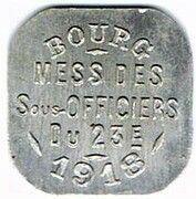 20 centimes - Mess des Sous-Officiers du 23è - Bourg-en-Bresse (01) – obverse