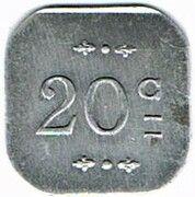 20 centimes - Mess des Sous-Officiers du 23è - Bourg-en-Bresse (01) – reverse