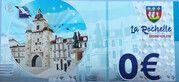 0 euro - La Rochelle - L'entrée du vieux port et la grosse horloge – reverse