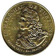 Jeton touristique - Monnaie de Paris - Le Maréchal de Turenne – obverse