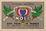 Bon pour 10 francs de denrées alimentaires - Noël du Maréchal – obverse