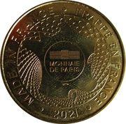 Jeton Touristique - Monnaie de Paris - Oradour-sur-Glane – reverse