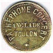 Jeton d'audition - Pathéphone Concert Anglade - Toulon (83) – obverse