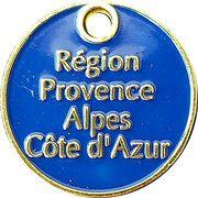 Jeton de caddie - Région Provence-Alpes-Côte d'Azur – reverse