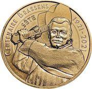 Jeton touristique - Monnaie de Paris - Centenaire Brassens – obverse