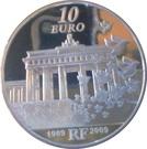 10 Euro (Berlin Wall) – reverse
