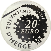 20 Euro (Tintin and Snowy) – reverse