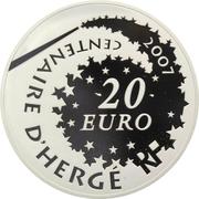 20 Euro (Tintin and Snowy) – reverse