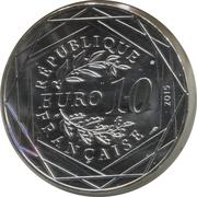 10 Euro – Astérix and Equality (Astérix aux Jeux Olympiques) -  obverse