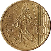 10 Euro Cent (1st map; coarse reeding) -  obverse