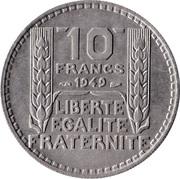 10 Francs (Small Head) -  reverse