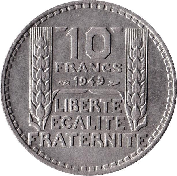 10 Francs Turin Petite T 234 Te France Numista