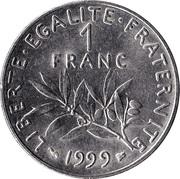 "1 Franc (Signature ""O. Roty"") -  reverse"