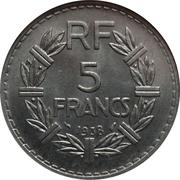5 Francs -  reverse