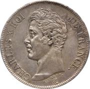 5 Francs - Charles X (1st type) -  obverse