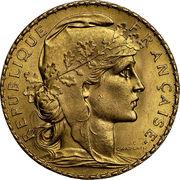 20 Francs Marianne Rooster -  obverse