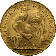 20 Francs Marianne Rooster -  reverse