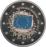 2 Euro (30 Years of EU Flag; Coloured) -  obverse