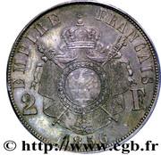 2 Francs - Napoleon III (pattern of  Bouvet) – reverse