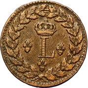 1 Décime - Louis XVIII (au L couronné, légère) -  obverse