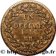 1 Décime - Louis XVIII (au L couronné, légère) -  reverse