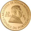 10 Euro (Aristides de Sousa Mendes) – obverse
