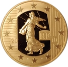 250 Euro (New Franc) – obverse