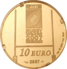 10 Euro (Rugby World Cup) – reverse