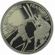 100 Francs (Free-style Skiing) -  obverse