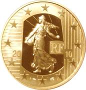 50 Euro (New Franc) – obverse