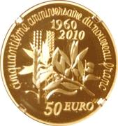 50 Euro (New Franc) – reverse